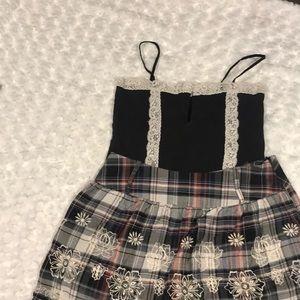 Spegetti strap & skirt